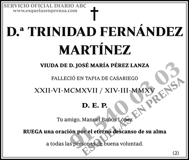 Trinidad Fernández Martínez